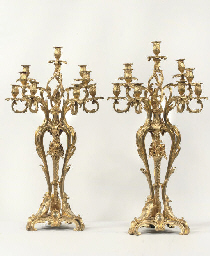 A PAIR OF FRENCH GILT-BRONZE N