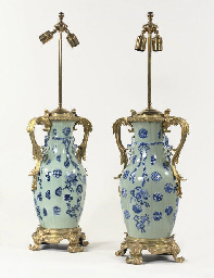 A PAIR OF NORTH EUROPEAN GILT-