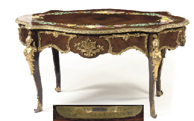 A NAPOLEON III ROSEWOOD AND EN