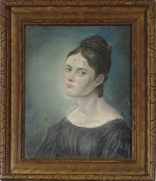 Portrait of a lady with a blue