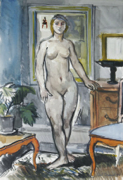 Female nude in an interior set