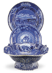 AN ASSEMBLED STAFFORDSHIRE BLU