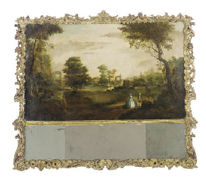 AN ENGLISH PAINTED AND PARCEL-