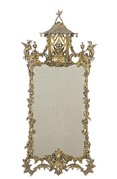 A PAIR OF GILTWOOD WALL MIRROR