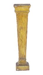 A FAUX-MARBLE PEDESTAL,