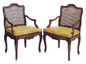 A PAIR OF REGENCE BEECHWOOD AN