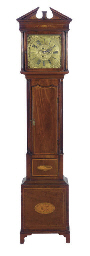 AN IRISH INLAID MAHOGANY LONG-