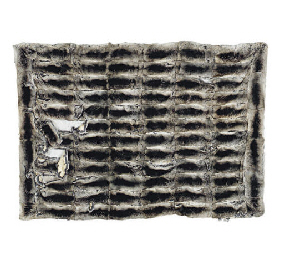 A CHINCHILLA FUR THROW,