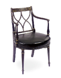 A REGENCY EBONIZED AND PARCEL-