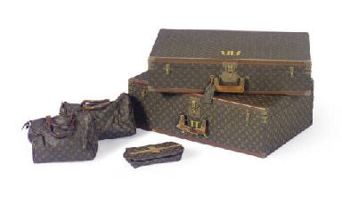 TWO LOUIS VUITTON HARD SUITCAS