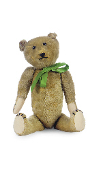 A BROWN MOHAIR TEDDY BEAR,