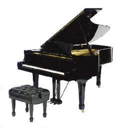 A YAMAHA EBONIZED GRAND PIANO,