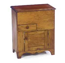 AN AMERICAN MAPLE CUPBOARD,