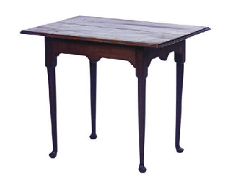 A MAHOGANY TEA TABLE,