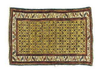 THREE CAUCASIAN RUGS,