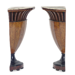 A PAIR OF BIEDERMEIER BURR BIR