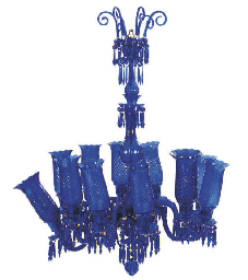 A VICTORIAN COBALT BLUE GLASS