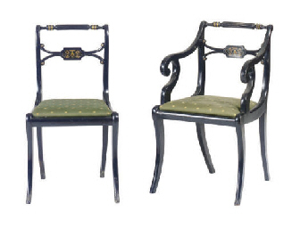 A SET OF EIGHT REGENCY STYLE B