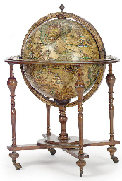A TERRESTRIAL GLOBE AND DECANT