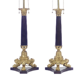 A PAIR OF FRENCH ORMOLU AND BR