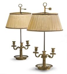 PAIRE DE LAMPES BOUILLOTTES DE