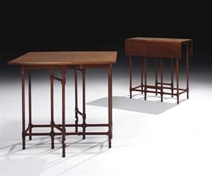 DEUX TABLES A VOLETS DONT UNE