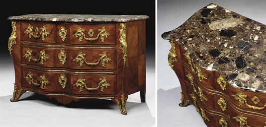COMMODE TOMBEAU D'EPOQUE LOUIS