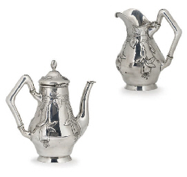 AN AUSTRIAN SILVER SMALL COFFE