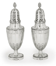 A LARGE PAIR OF DUTCH SILVER S