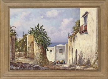 A Mediterranean sun terrace; a