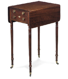 A REGENCY MAHOGANY WORKTABLE
