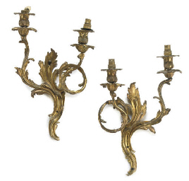 A SET OF FOUR GILT-BRONZE TWIN