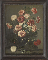 Carnations and convolvulus in