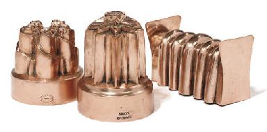 A Victorian copper paté mould