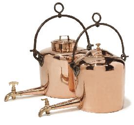 Two Victorian copper 'Gypsy' k