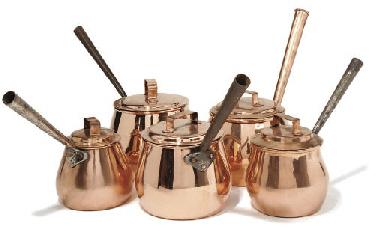 A composite set of five copper