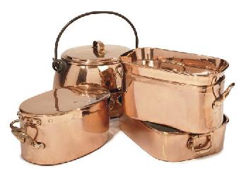 A collection of copper domesti