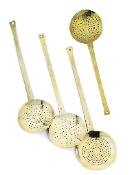 FOUR LARGE ENGLISH CAST BRASS