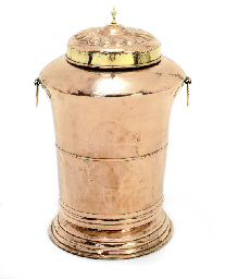A FRENCH COPPER WATER-STAND