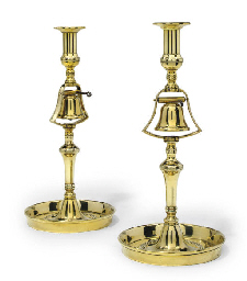 A PAIR OF ENGLISH BRASS TAVERN