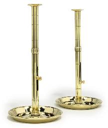 A near pair of brass 'pulpit'