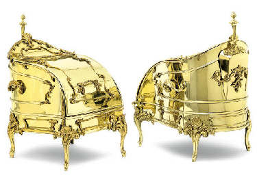 A VICTORIAN LACQUERED BRASS CO