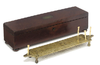 A GOOD ENGLISH BRASS CRIBBAGE