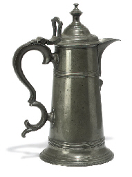 A GEORGE III PEWTER SPIRE-FLAG