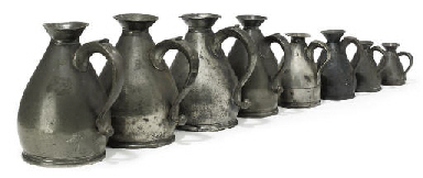 A GROUP OF WEST COUNTRY PEWTER