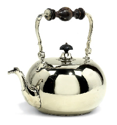 A DUTCH PAKTONG TEA KETTLE