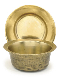 A FRENCH SHALLOW BRONZE BOWL