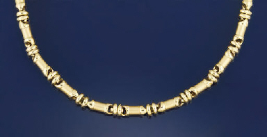An 18 ct. gold necklace, by Bo