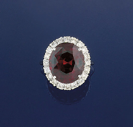 A GARNET AND DIAMOND CLUSTER R