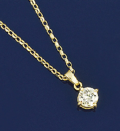 A single stone diamond pendant